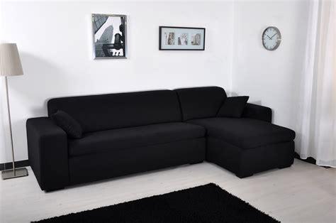 canapé noir angle canapé d 39 angle microfibre noir maestro lestendances fr
