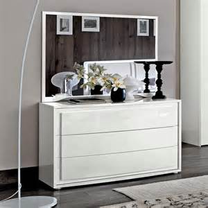 Bianca White High Gloss 3 Drawer Chest Of Drawers F D