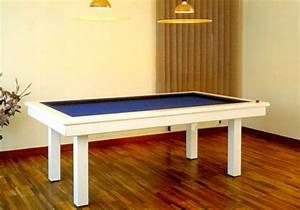 billard table billard laque blanc loft de style moderne With table de billard moderne