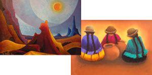 bordados de lourdes cardozo y la pintura de ricardo usnayo en la casa de la cultura bolivia