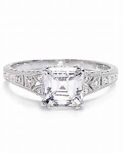 asscher cut diamond engagement rings martha stewart weddings With asscher cut wedding rings