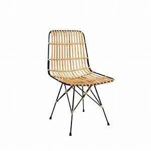 Chaise Design Metal : chaise m tal et rotin kubu par drawer ~ Teatrodelosmanantiales.com Idées de Décoration