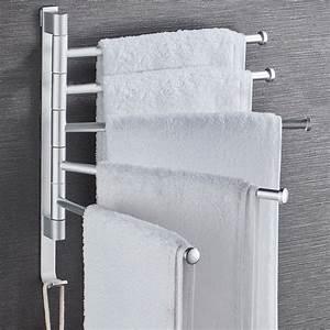 Bathroom, Swivel, Towel, Rack, Wall, Mounted, Heavy, Duty, Towel, Shelf, Towel, Holder