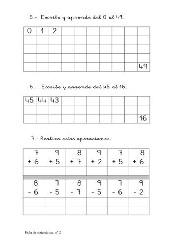 genial cuaderno  trabajar los numeros del  al  primer ciclo orientacion andujar