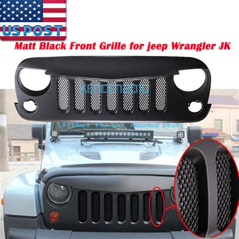 jeep bumper grill black abs front bumper grill guard honeycomb insert for 07