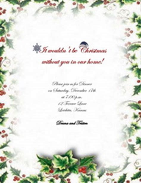 christmas invitations  templates clip art