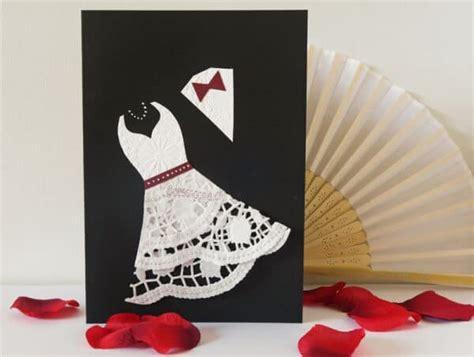 hochzeitskarte mit tortenspitze handmade kultur
