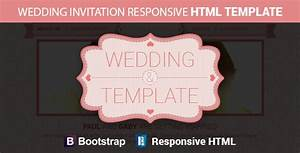 wedding invitation responsive html template themeforest With wedding invitation templates bootstrap