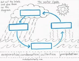 water cycle worksheets label     copy