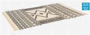 Tapis Tissé à Plat Pas Cher : jefuzan tapis tiss laine 170x240 habitat noir et blanc tapis habitat ventes pas ~ Teatrodelosmanantiales.com Idées de Décoration