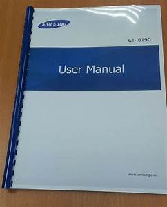Samsung Galaxy S3 Mini I8190 Printed User Manual Guide