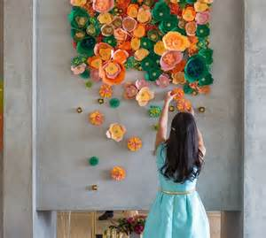 diy paper flower wall decor