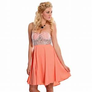 robe bustier dentelle quotsaoue rose orange achat With robe bustier rose