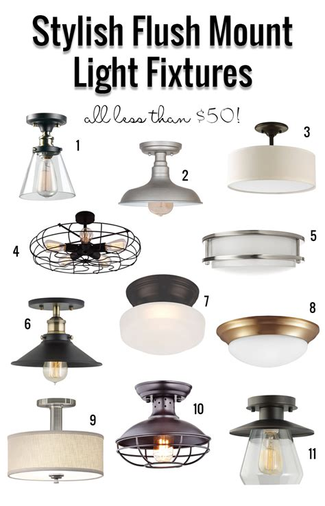 flush mount kitchen lighting fixtures remodelaholic stylish flush mount light fixtures 50 6673