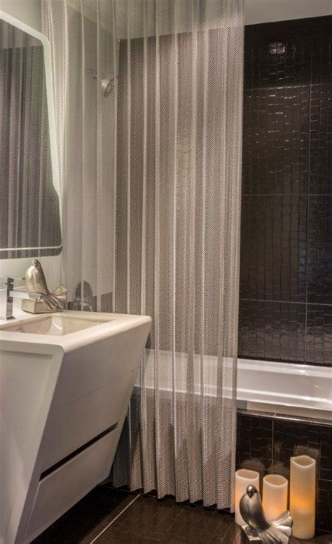 mesh shower curtain how mesh high end shower curtains improve your bathroom