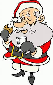 Santa Eating Cookies Clipart - Clipart Suggest