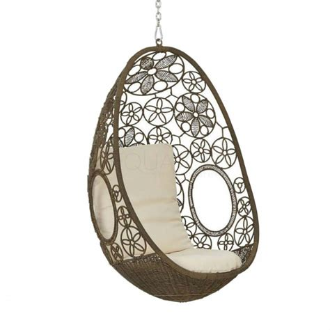 clovelly hanging pod chair bare outdoors