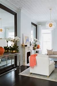 Pretty, Mirrored, Console, Table, In, Living, Room, Transitional