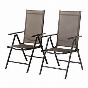 Best Larino Klappsessel : 2 er set stuhl 7 fach verstellbar klappsessel gartenstuhl hochlehner f r terrasse ~ Indierocktalk.com Haus und Dekorationen