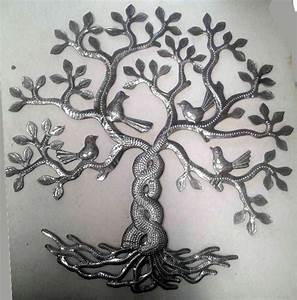 Arbre De Vie Decoration Murale : la travers e des arbres de vie avec des oiseaux d coration murale arbre de vie en ha ti de l ~ Teatrodelosmanantiales.com Idées de Décoration
