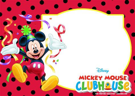 Mickey Mouse Invitations Template by Free Mickey Mouse Summer Birthday Free Printable