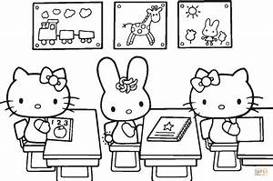 Hello Kitty Back to School coloring page | Free Printable ...