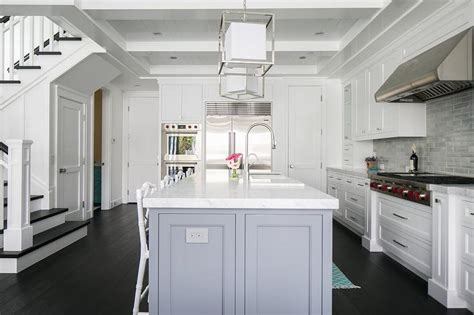 kitchen center island cabinets white cabinets with gray center island transitional 6532