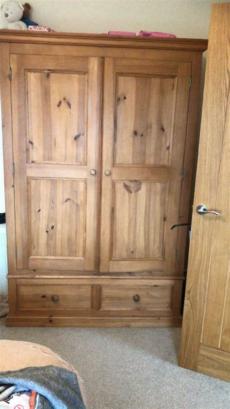Large Wooden Wardrobe by Large Wooden Wardrobe In Bridgwater Somerset Gumtree