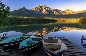 Nature, Photography, Landscape, Morning, Sunlight, Lake, Boat, Forest, Mountains, Reflection
