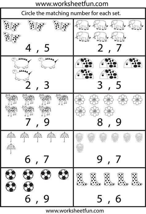 counting worksheets  worksheets  printable
