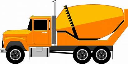 Lorry Truck Cement Clipart Mixer Background Vector