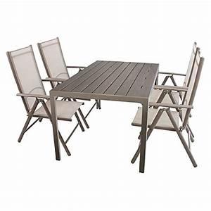 Polywood Gartenmöbel Set : 5tlg gartenm bel set sitzgruppe aluminium polywood non wood gartentisch 150x90cm 4x ~ Markanthonyermac.com Haus und Dekorationen