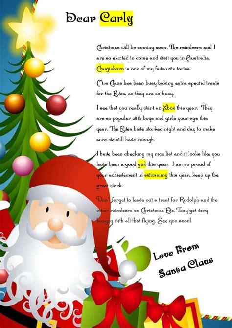 magical santa pack includes letter  santa nice