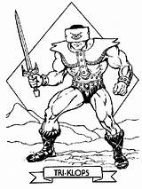 Coloring Pages He Masters Triclops Tri Klops Universe Printable Skeletor Drawing Print Heman Boys Drawings Books Motu Pop Stencils Recommended sketch template