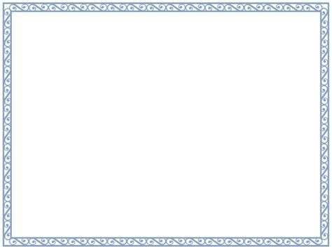 Free Border Templates by Free Certificate Border Blank Printable
