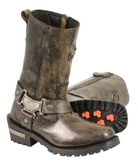 real leather biker boots women s distressed brown motorcycle boots genuine leather