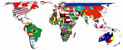 Countries Map Nations Flags Regions Represented