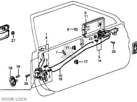 Car Door Lock Mechanism Diagram by 75450sb0672 Lock Assy L Door Honda Buy The 75450 Sb0