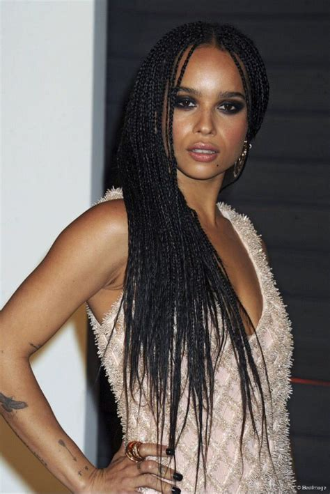 zoe kravitz   beautiful braids braids pinterest