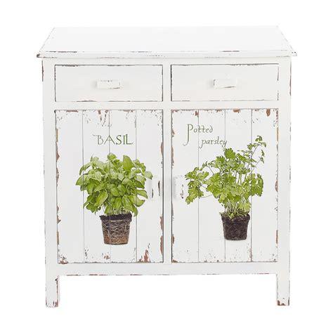 buffet cuisine blanc buffet de cuisine en bois blanc l 80 cm aromates maisons