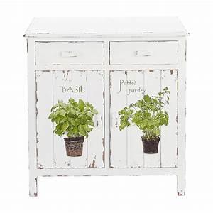 Buffet Blanc Maison Du Monde : buffet de cuisine en bois blanc l 80 cm aromates maisons du monde ~ Teatrodelosmanantiales.com Idées de Décoration