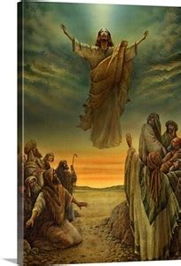 jesus ascending  heaven photo canvas print great big