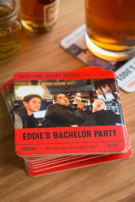 custom bachelor party coasters wedding inspiration