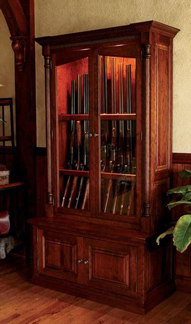 Wooden Gun Cabinets by Wood Gun Cabinets Cherrywood Security Gun Cabinet Orvis