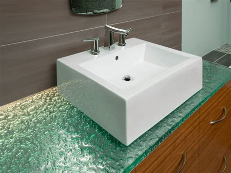 Recycled Glass Bathroom Countertops by Bathroom Countertop Trends You Must