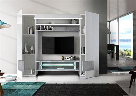 sorriso wall unit white gloss  greyblacknatural