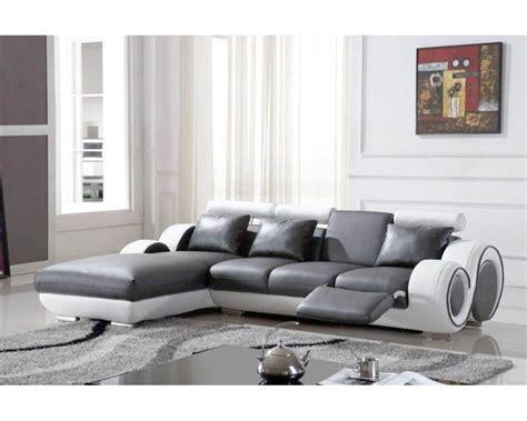 salon canapé blanc salon avec canape noir