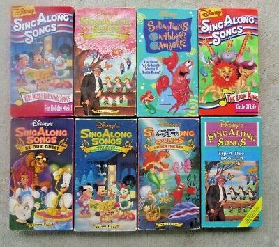 lot of 8 disney sing along songs vhs children s mixed tapes kids movies vintage ebay