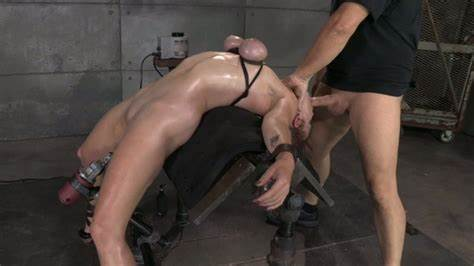 Ass Masochist Hung Upside Down And Abused