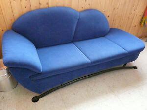 sofa couch  sitzer  sitzer blau geschwungen vintage